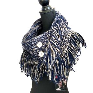 NORDSTROM side duo button infinity knit scarf NWT